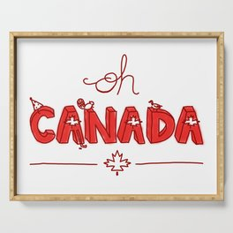 Oh Canada Day (Handlettered) Serving Tray