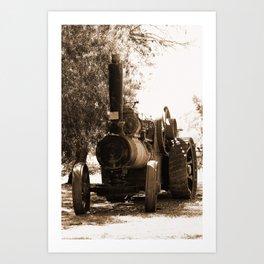 Lincoln - Ruston Proctor Co Ltd Sepia Art Print