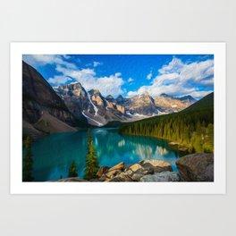 Placid lake Art Print