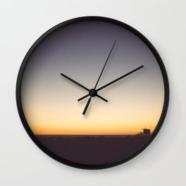 Venice Beach Sunset Wall Clock
