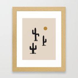saguaro silent disco Framed Art Print