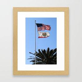 California Flag Framed Art Print