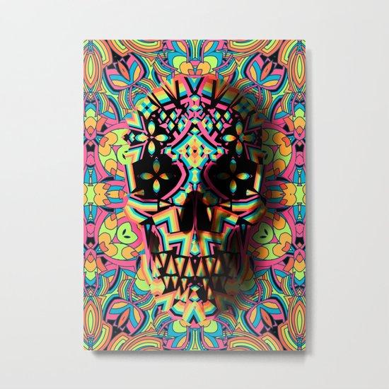 Fancy Skull Metal Print