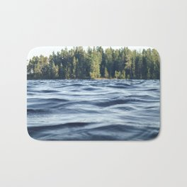 Summer Forest Lake Bath Mat