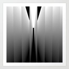 Origami: pattern of light and dark Art Print