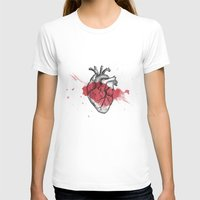 anatomical heart T-shirts featuring Anatomical heart - Art is Heart  by AdaLovesTheRain