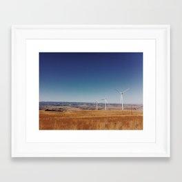 Wind power Framed Art Print