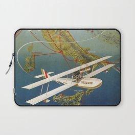 Vintage 1920s Island plane shuttle Italian travel Laptop Sleeve