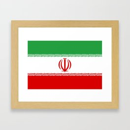 flag of iran- Persia, Iranian,persian, Tehran,Mashhad,Zoroaster. Framed Art Print