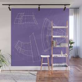 architectural drawings Wall Mural