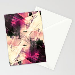 Future Punk - Geometric Abstract Art Stationery Cards