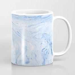 Blue ocean marble texture Coffee Mug