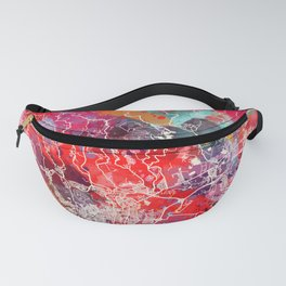 Ponce map Puerto Rico painting 2 Fanny Pack