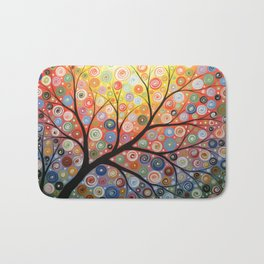 Abstract Art Landscape Original Painting ... Reaching For the Light Bath Mat