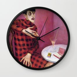 Vintage poster-Portrait of the journalist Sylvia von Harden -Wilhelm Heinrich Otto Dix . Wall Clock