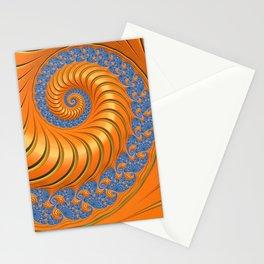 Orange Crush Fractal Swirl Stationery Cards