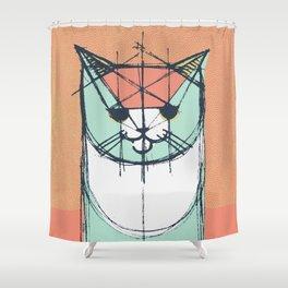 Cubist Cat Study #8 by Friztin Shower Curtain