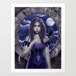 Curse of the Raven Art Print