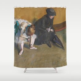 Waiting by Edgar Degas Shower Curtain
