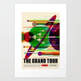 NASA Outer Space Saturn Shuttle Retro Poster Futuristic Explorer Art Print