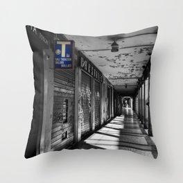 Summer in Bologna Black an White Street Photography Throw Pillow