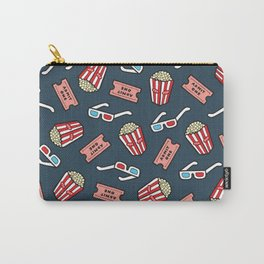 Movie Pattern in Dark Blue Carry-All Pouch
