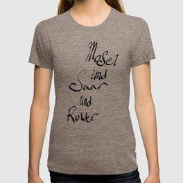 Mosel und Saar und Ruwer T-shirt