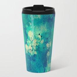 Green Yellow Blue Abstract Travel Mug