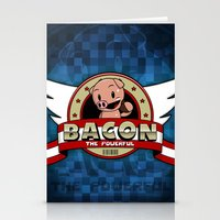 bacon Stationery Cards featuring Bacon by maiconmcn