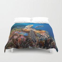 Turtle fan Duvet Cover