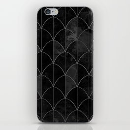 Mermaid scales in black and white. iPhone Skin