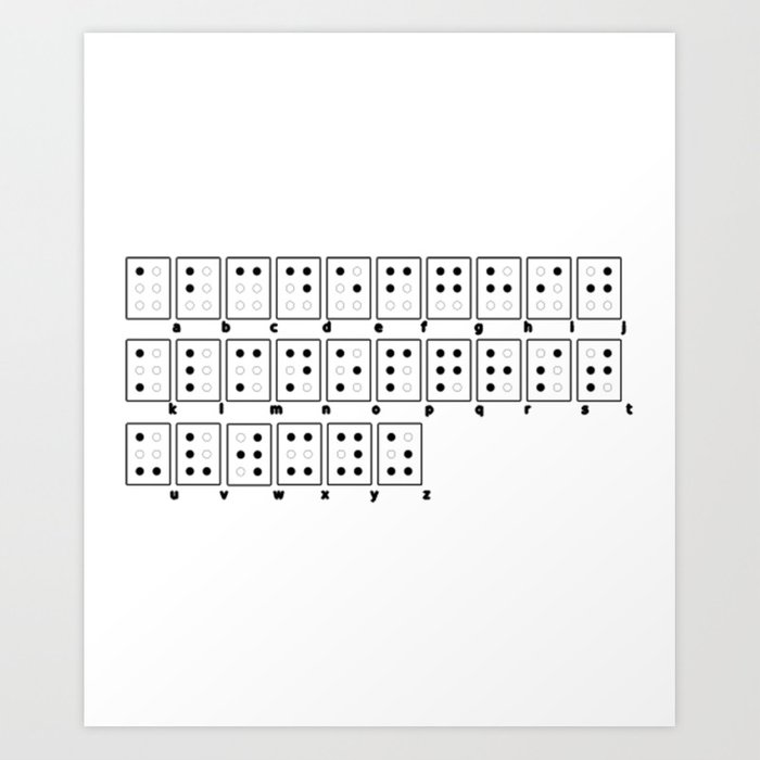 Braille Alphabet Art Print by azza1070