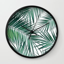 Palm Leaves - Green Cali Vibes #2 #tropical #decor #art #society6 Wall Clock