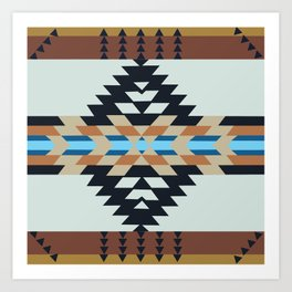 American Native Pattern No. 133 Art Print