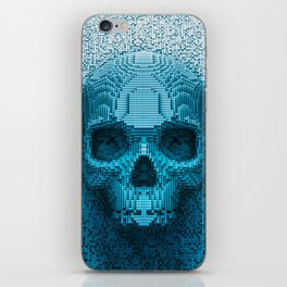 Pixel skull iPhone Skin