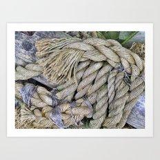 Old Rope Art Print