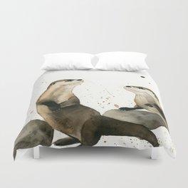 Otters Duvet Cover