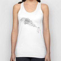 bubbles Tank Tops featuring Bubbles the Snow Leopard by Darel Seow