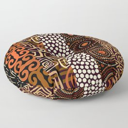Geometric African Pattern Floor Pillow