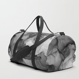 Black and White Ink Painting Abstract Flowing Duffle Bag