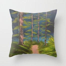 Still standing - strong trees Throw Pillow
