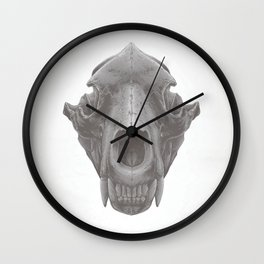 Grizzly Skull Wall Clock