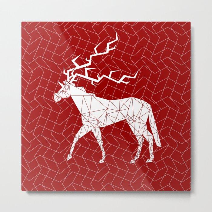 Reindeer Unicorn Metal Print