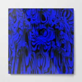 Colorful smudges of magical infinity from blue lines and dark hypnotic fixation. Metal Print