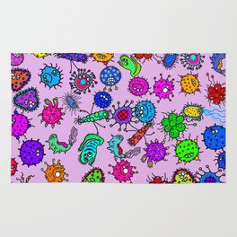 Bacteria Background Rug