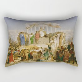 "Jean-Léon Gérôme ""The age of Augustus and the birth of Christ"" 2. Rectangular Pillow"