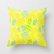 Picnic Pals paint in citrus Throw Pillow