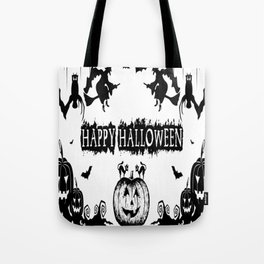 t-shirt happy haloween_By happy t-shirt halloween Tote Bag