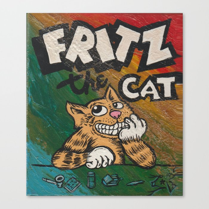 Cult Icon Fritz The Cat By David C J Bunn Canvas Print By Captainjoint Society6