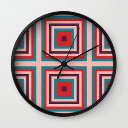 Mid century gingham #homedecor #midcenturydecor Wall Clock
